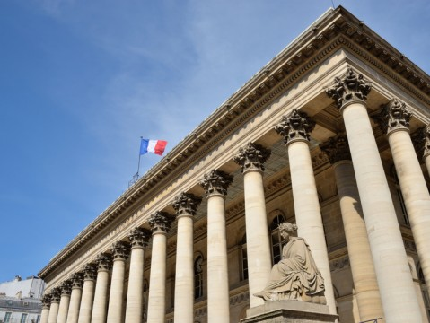 Das Palais Brongniart in Paris